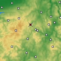 Nearby Forecast Locations - Korbach - Mapa