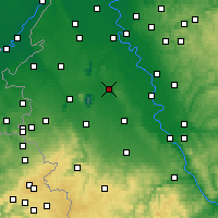 Nearby Forecast Locations - Bergheim - Mapa