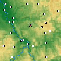 Nearby Forecast Locations - Altenkirchen - Mapa