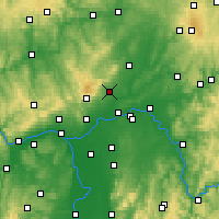 Nearby Forecast Locations - Bad Homburg - Mapa