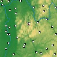 Nearby Forecast Locations - Erbach im Odenwald - Mapa