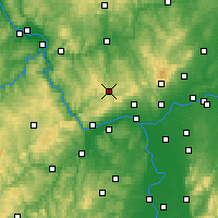 Nearby Forecast Locations - Bad Schwalbach - Mapa