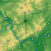 Nearby Forecast Locations - Limburgo del Lahn - Mapa