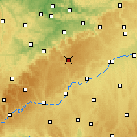 Nearby Forecast Locations - Münsingen - Mapa
