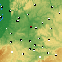 Nearby Forecast Locations - Heilbronn - Mapa