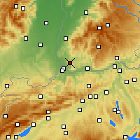 Nearby Forecast Locations - Lörrach - Mapa