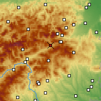 Nearby Forecast Locations - Mürzzuschlag - Mapa