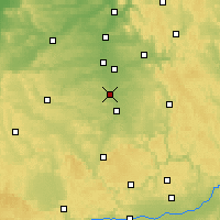 Nearby Forecast Locations - Schwabach - Mapa