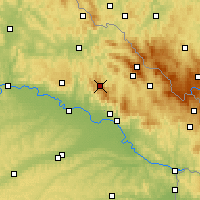 Nearby Forecast Locations - Bosque bávaro - Mapa