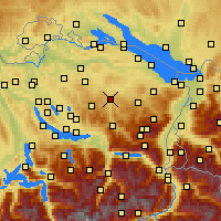 Nearby Forecast Locations - Lütisburg - Mapa