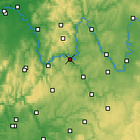 Nearby Forecast Locations - Wertheim - Mapa