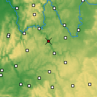 Nearby Forecast Locations - Tauberbischofsheim - Mapa