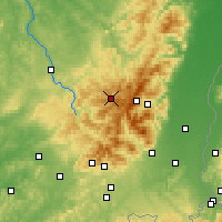 Nearby Forecast Locations - Gérardmer - Mapa