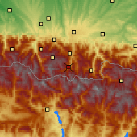 Nearby Forecast Locations - Saint-Lary-Soulan - Mapa