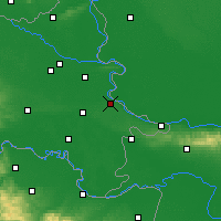 Nearby Forecast Locations - Vukovar - Mapa