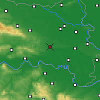 Nearby Forecast Locations - Đakovo - Mapa