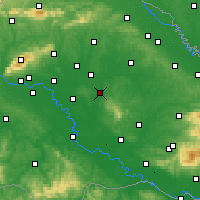 Nearby Forecast Locations - Čazma - Mapa