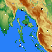 Nearby Forecast Locations - Krk - Mapa