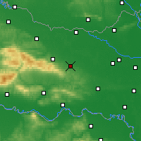 Nearby Forecast Locations - Našice - Mapa
