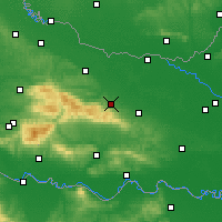 Nearby Forecast Locations - Orahovica - Mapa