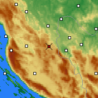 Nearby Forecast Locations - Plitvička Jezera - Mapa