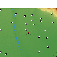 Nearby Forecast Locations - Amroha - Mapa