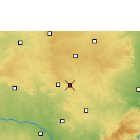 Nearby Forecast Locations - Badepalle - Mapa