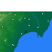 Nearby Forecast Locations - Bapatla - Mapa