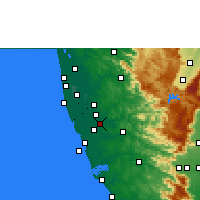 Nearby Forecast Locations - Chengannur - Mapa