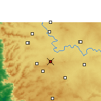 Nearby Forecast Locations - Chikodi - Mapa