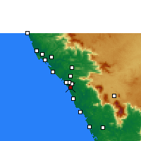 Nearby Forecast Locations - Panoor - Mapa