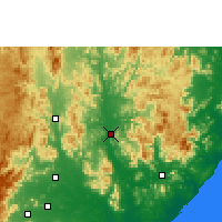 Nearby Forecast Locations - Gunupur - Mapa