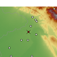 Nearby Forecast Locations - Gurdaspur - Mapa