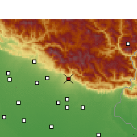 Nearby Forecast Locations - Haldwani - Mapa