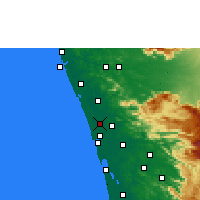 Nearby Forecast Locations - Irinjalakuda - Mapa