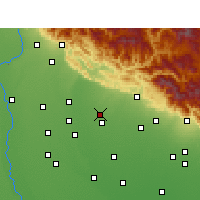 Nearby Forecast Locations - Jaspur - Mapa