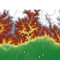 Nearby Forecast Locations - Kalimpong - Mapa