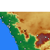 Nearby Forecast Locations - Kalpetta - Mapa