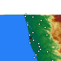 Nearby Forecast Locations - Kanjikkuzhi - Mapa