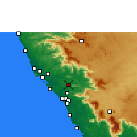 Nearby Forecast Locations - Mattanur - Mapa