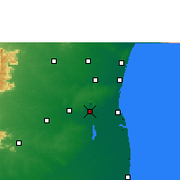 Nearby Forecast Locations - Neyveli - Mapa