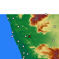 Nearby Forecast Locations - Ottapalam - Mapa
