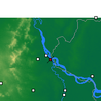 Nearby Forecast Locations - Paschim Punropara - Mapa