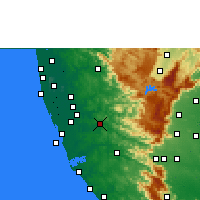 Nearby Forecast Locations - Pathanamthitta - Mapa