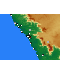 Nearby Forecast Locations - Peringathur - Mapa