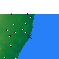 Nearby Forecast Locations - Pudupattinam - Mapa
