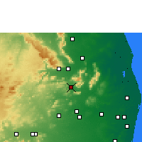 Nearby Forecast Locations - Puttur - Mapa