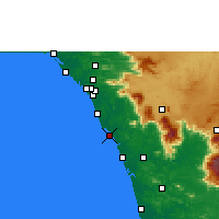 Nearby Forecast Locations - Koyilandy - Mapa