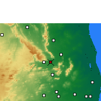 Nearby Forecast Locations - Renigunta - Mapa