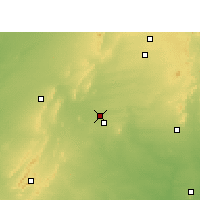 Nearby Forecast Locations - Sambhar Lake - Mapa